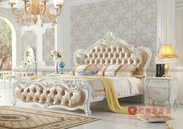 [紅蘋果傢俱] 1128 歐式系列 古典 歐式 美式  雙人床 歐式床 床台 工廠直營