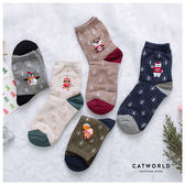 Catworld 正韓空運*聖誕雪花動物棉質長襪【18900140】‧F