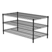 (組)特力屋烤漆三層架 -黑 122x60x60CM