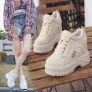 內增高鞋 新款百搭小白鞋韓版12cm運動休閒鞋