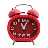 糖果色 復古立體數字方型雙鈴鬧鐘(小) SV-1308-R