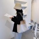 手提包 夏季大容量女士包包2020新款潮洋氣百搭單肩手提包網紅編織托特包【快速出貨】