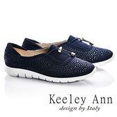 ★2016秋冬★Keeley Ann極簡步調~樂活運動風水鑽造型休閒鞋(藍色) -Ann系列