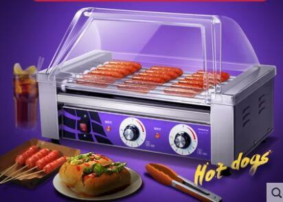 烤腸機 商用烤香腸全自動7管304不銹鋼烤火腿腸熱狗機 igo 聖誕免運