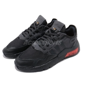 adidas 休閒鞋 Nite Jogger 黑 紅 男鞋 Boost 中底 運動鞋 反光設計 【PUMP306】 FV3618