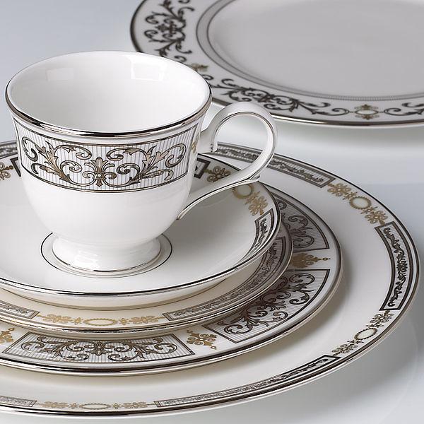 Lenox-Antiquity 五件骨瓷餐具組