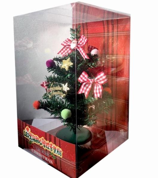 LED燈甜心聲控音樂聖誕樹】裝飾小聖誕樹