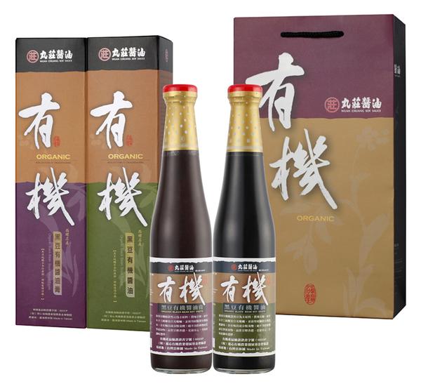 【鮮食優多】丸莊 有機醬油禮盒2組(黑豆有機醬油膏+黑豆有機醬油 /1組)