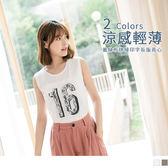 OrangeBear《AB7225》字母燙印蕾絲布拼接長版背心/上衣--適 XL~5L