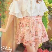 褲裙 印花後鬆緊褲裙-Ruby s 露比午茶