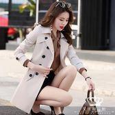 風衣 女中長款春秋季矮個子韓版百搭大碼修身顯瘦大衣外套