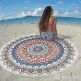 沙灘巾防曬披肩浴巾流蘇速干超細纖維戶外海邊度假多功能沙灘墊 娜娜小屋