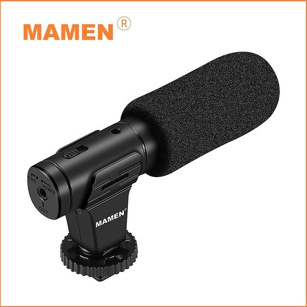 【MAMEN 慢門】MIC-07 PRO 指向性麥克風(公司貨) 附贈:防風兔毛、防噪海棉
