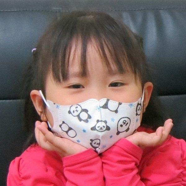 BNN超立體3D口罩@兒幼童-白色小熊貓@少量現貨 新素材耳帶耳朶不痛 一包50片台灣製造SGS合格