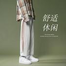 網紅褲子男ins超火港風寬鬆直筒運動休閒高街男褲墜感潮流痞帥氣 設計師