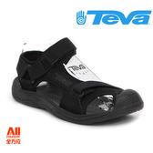 【Teva】男款 Hurricane Toe Pro 護趾水陸機能運動款涼鞋  - 黑色 (1000352BBLC)【全方位運動戶外館】