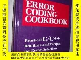 二手書博民逛書店英文原版罕見Error Coding Cookbook by C