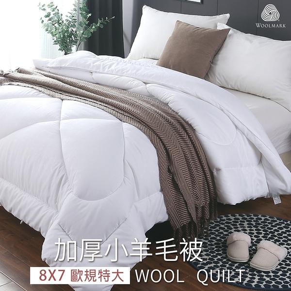 BELLE VIE 台灣製 100%澳洲純小羊毛雙人冬被/厚棉被【特大款歐規 8X7冬被】沐眠家居