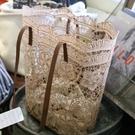 購物包春夏新款韓版森擊蕾絲唯美側背包手提包女士大容量水桶購物袋 特賣