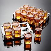 家用創意玻璃啤酒杯洋酒杯白酒杯一口杯小號四方杯酒具套裝 跨年鉅惠85折