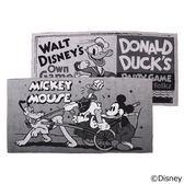 【數量限定】Mickey Mouse 復古卡通黑白腳踏墊(二入)600mm×1200mm