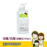 【潔淨寧】乾洗手(按壓式/500ml/花草香) 病房/清潔/消毒/抗菌