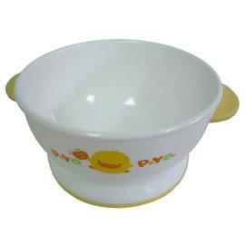 黃色小鴨 雙色防滑雙耳碗(微波爐專用)-碗底加寬【佳兒園婦幼館】