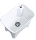 【麗室衛浴】 陽台拖布盆C-297-3 陶瓷拖布盆 嘔吐盆 含自動落水頭 手不用碰觸汙水