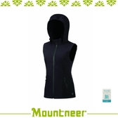 【Mountneer 山林 女 輕量防風 SOFT SHEEL 背心《黑》】32V02/防潑水/抗寒/保暖背心