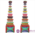【大堂人本】JY57- 木柱方形九層全飲料罐頭塔(720瓶)
