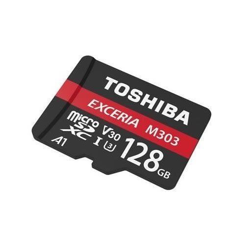 TOSHIBA 手機記憶卡 【THN-M303R1280A2】 M303 Micro-SD 128GB U3 新風尚潮流