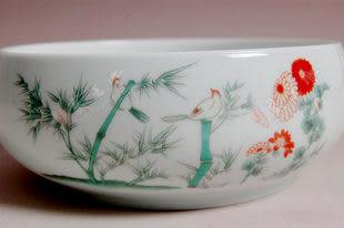 青花瓷清風竹林茶洗彩陶瓷杯 茶具