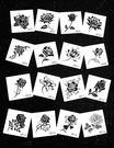 【一份16張】紋身貼防水女原創黑色小玫瑰花朵蝴蝶仿真刺青紋身紙【跨年交換禮物降價】