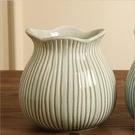 工藝品擺件新房餐廳電視柜裝飾插花花器 美式鄉村輕奢陶瓷花瓶客廳