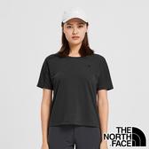 【THE NORTH FACE 美國】女 快乾圓領短袖 T恤『黑』NF0A4975 戶外 登山 時尚 休閒