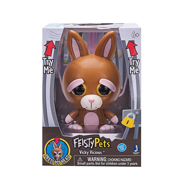 《 Feisty Pets 》變臉娃娃4吋 棕兔 Vicky Vicious╭★ JOYBUS玩具百貨