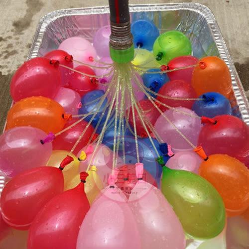 夏日小物 夏天消暑必備水球/快速充氣水球(1包3束入)【小三美日】