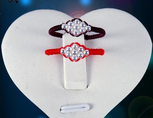 轉運戒指 戒指紅繩手工編織戒指情侶訂制男女款戒指 寶貝計畫