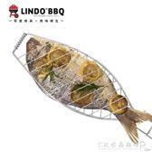 戶外燒烤工具配件可折疊大號烤魚夾子便攜式魚夾燒烤夾子 烤肉節搶購