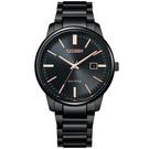 CITIZEN 星辰 光動能城市手錶-黑(BM7527-89E)