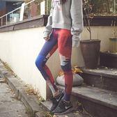 全館8折上折明天結束專業瑜伽褲女運動緊身長褲彈力速干透氣印花健美褲跑步顯瘦健身褲