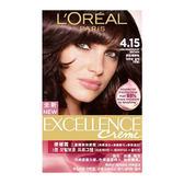 巴黎萊雅 L Oreal 新版優媚霜三重護髮染髮霜 #4.15 灰紅褐棕色(172g)