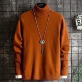 長袖厚款男士毛衣上衣 男裝冬季冬裝冬天男款保暖打底衫 型男針織衫加絨 長袖加厚男生毛衣