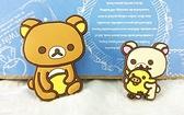 【震撼精品百貨】Rilakkuma San-X 拉拉熊懶懶熊~San-X 汽車用裝飾立體貼-#50412