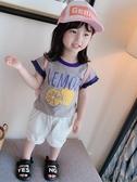 女童上衣女童短袖t恤純棉夏季小女孩兒童洋氣體恤女寶寶夏裝上衣雙十二