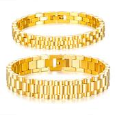 《 QBOX 》FASHION 飾品【B20N750】精緻個性簡約男女手錶鏈設計鈦鋼手鍊/手環(三色)