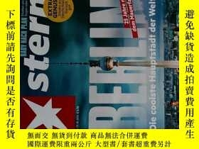 二手書博民逛書店Stern罕見2014年10月23 NR.44 德國明星週刊 德