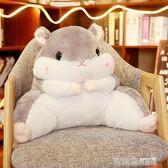 毛絨玩具 倉鼠抱枕被子兩用靠背護腰靠墊靠枕辦公室腰墊毯子空調被枕子 IGO  歐萊爾藝術館