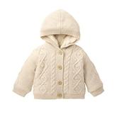 mothercare 米色連帽針織外套-森林小鹿(M0C0201)