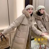 羽絨棉服女韓版寬松過膝加厚面包服棉衣中長款冬季外套【輕奢時代】